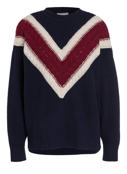 SEE BY CHLOÉ Pullover CHEVRON , Farbe: BLAU/ CREME/ ROT (Bild 1)