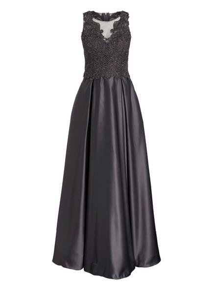 VM VERA MONT Kleid mit Stickerei und Glitzersteinbesatz, Farbe: DUNKELGRAU (Bild 1)