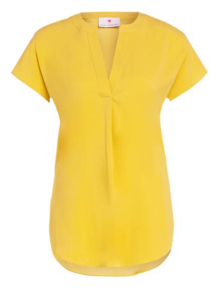 herzensangelegenheit Blusenshirt aus Seide, Farbe: DUNKELGELB (Bild 1)