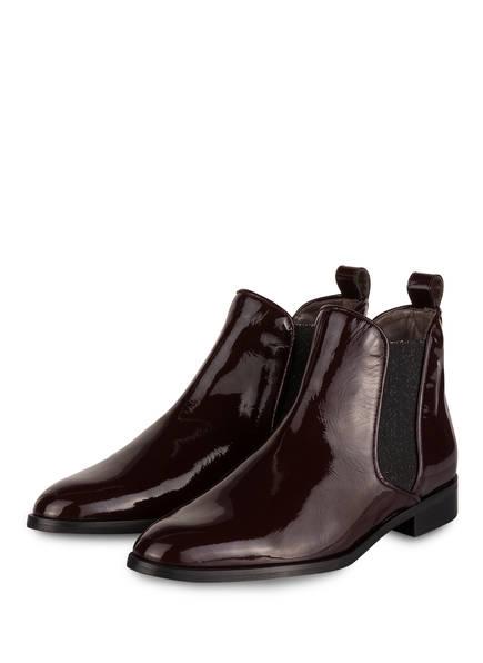 Pertini Chelsea-Boots VERNIS, Farbe: DUNKELROT/ SCHWARZ/ GOLD (Bild 1)