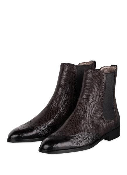 Pertini Chelsea-Boots, Farbe: DUNKELBRAUN/ SCHWARZ (Bild 1)