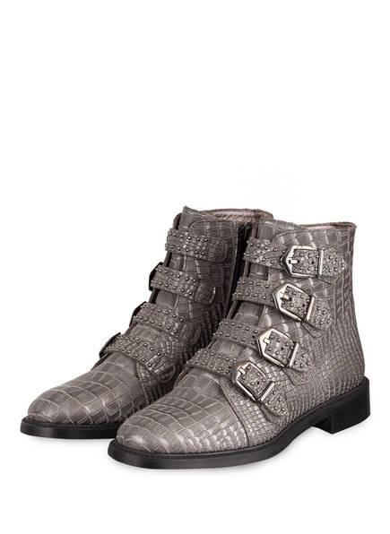 Pertini Boots, Farbe: GRAU METALLIC/ SCHWARZ (Bild 1)