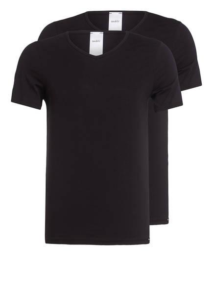 Skiny 2er-Pack V-Shirts , Farbe: SCHWARZ (Bild 1)