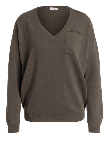 BRUNELLO CUCINELLI Cashmere-Pullover, Farbe: DUNKELGRÜN (Bild 1)