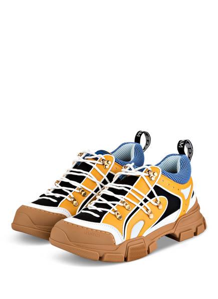GUCCI Sneaker FLASHTRECK, Farbe: BLACK/ YELLOW/ WHITE (Bild 1)