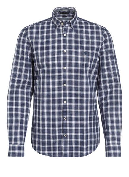Marc O'Polo Hemd Slim Fit, Farbe: DUNKELBLAU/ WEISS GESTREIFT (Bild 1)