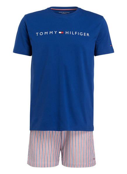 TOMMY HILFIGER Shorty-Schlafanzug, Farbe: BLAU/ WEISS GESTREIFT (Bild 1)