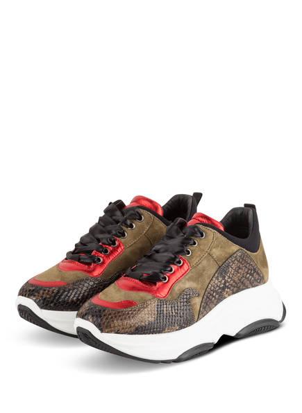 FIAMME Plateau-Sneaker, Farbe: KHAKI/ ROT (Bild 1)
