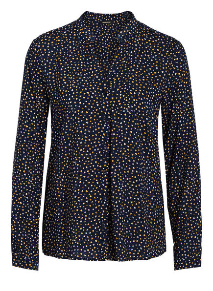 MORE & MORE Bluse, Farbe: DUNKELBLAU/ DUNKELGELB/ WEISS (Bild 1)
