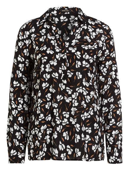 MORE & MORE Bluse, Farbe: SCHWARZ/ WEISS/ CAMEL (Bild 1)