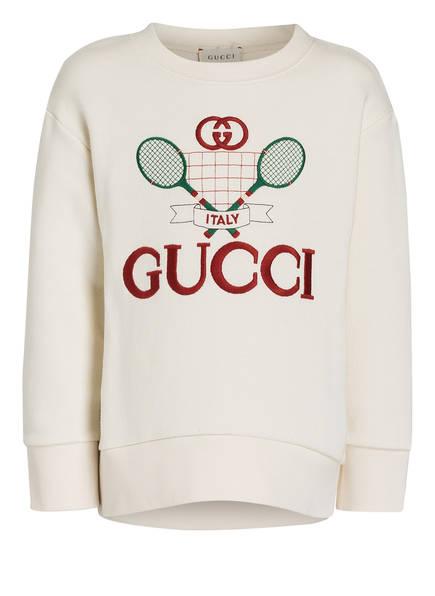 GUCCI Sweatshirt , Farbe: WEISS/ DUNKELROT (Bild 1)