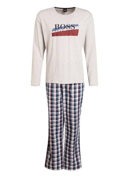 BOSS Schlafanzug, Farbe: BLAU/ HELLGRAU MELIERT (Bild 1)