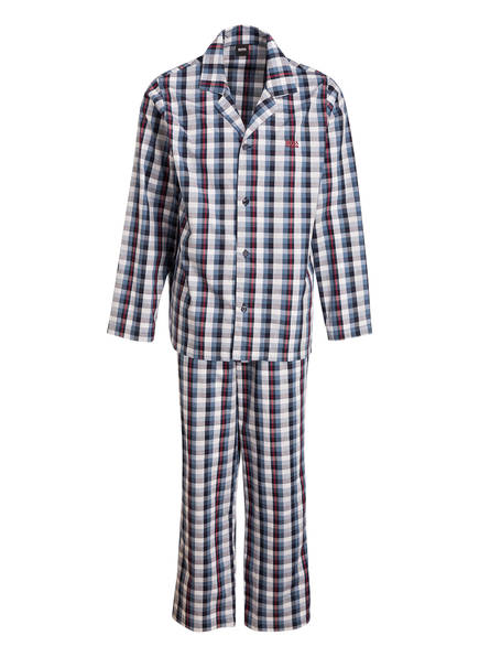 BOSS Schlafanzug URBAN, Farbe: BLAU/ HELLGRAU/ ROT KARIERT (Bild 1)