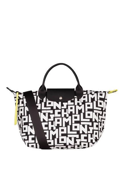 LONGCHAMP Handtasche LE PLIAGE M, Farbe: SCHWARZ/ WEISS (Bild 1)
