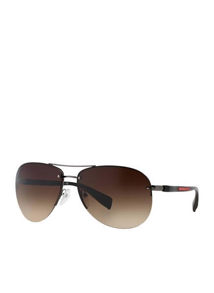 PRADA LINEA ROSSA Sonnenbrille PS 56MS, Farbe: 5AV6S1 - DUNKELGRAU/ BRAUN VERLAUF (Bild 1)