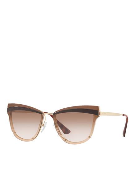 PRADA Sonnenbrille PR 12US, Farbe: KOF0A6 - GOLD/ ROSÉ VERLAUF (Bild 1)