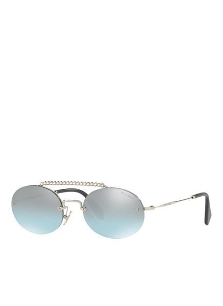 MIU MIU Sonnenbrille MU 60TS, Farbe: 1BC096 - SILBER/ BLAU VERSPIEGELT (Bild 1)