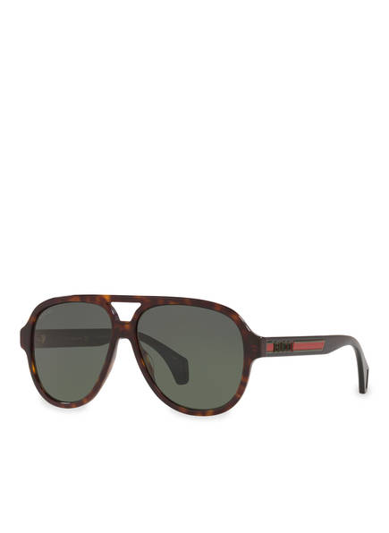 GUCCI Sonnenbrille GC001217, Farbe: 4402J1 - HAVANA/ GRÜN (Bild 1)