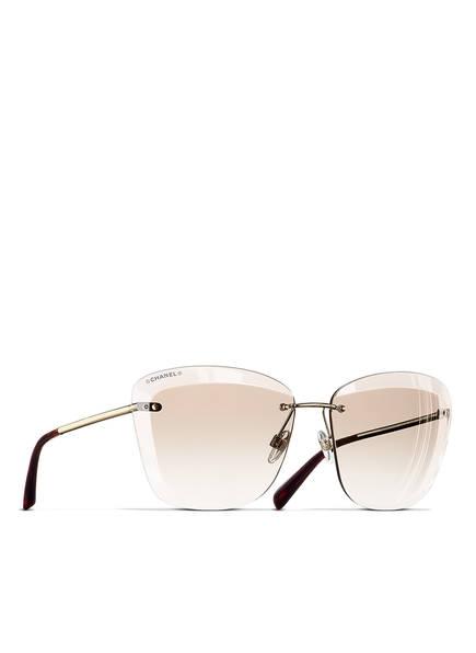 CHANEL Sunglasses Katzenaugenförmige Sonnenbrille, Farbe: GOLD & HELLBRAUN VERLAUF (Bild 1)