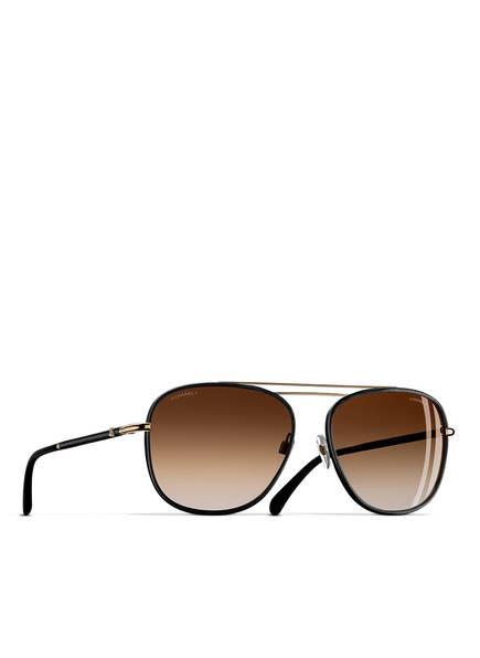 CHANEL Sunglasses Pilotensonnenbrille, Farbe: SCHWARZ & BRAUN VERLAUF (Bild 1)