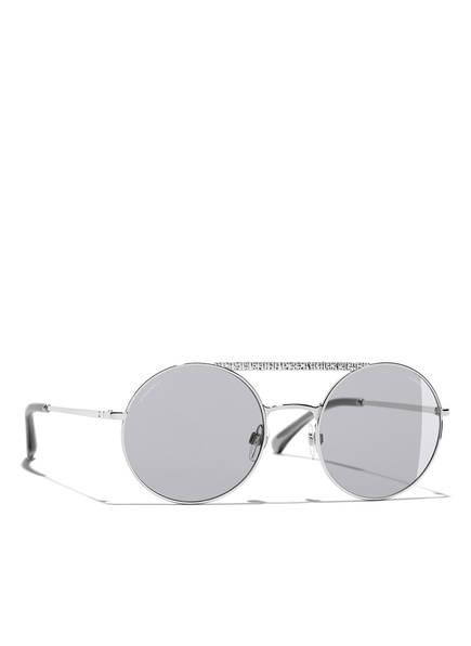 CHANEL Sunglasses Runde Sonnenbrille, Farbe: C12487 - SILBER/ HELLGRAU (Bild 1)