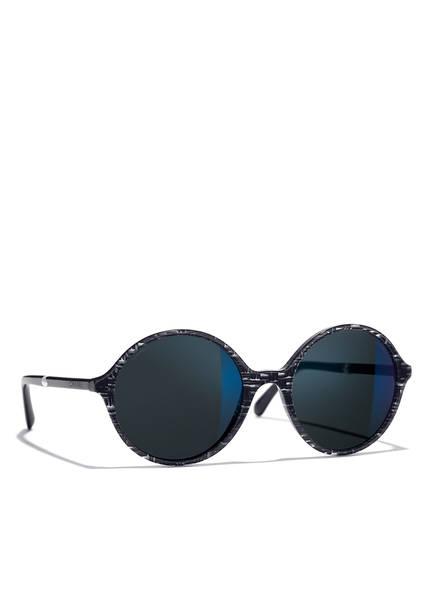 CHANEL Sunglasses Runde Sonnenbrille, Farbe: BLAU GRAU & BLAU (Bild 1)