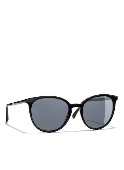 CHANEL Runde Sonnenbrille, Farbe: C 501S6 - SCHWARZ/ SCHWARZ (Bild 1)