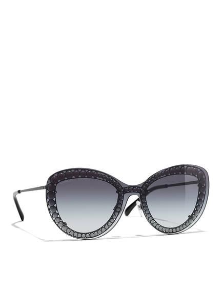 CHANEL Sunglasses Katzenaugenförmige Sonnenbrille, Farbe: C101S6 - DUNKELGRAU/ GRAU VERLAUF (Bild 1)
