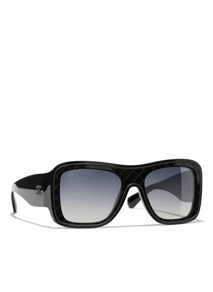 CHANEL Sunglasses Rechteckige Sonnenbrille, Farbe: SCHWARZ & GRAU VERLAUF POLARISIERT (Bild 1)