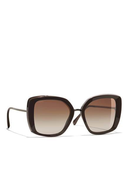 CHANEL Sunglasses Rechteckige Sonnenbrille, Farbe: DUNKELBRAUN & BRAUN VERLAUF (Bild 1)