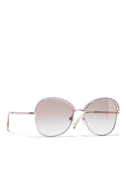 CHANEL Sunglasses Katzenaugenförmige Sonnenbrille , Farbe: C11713 - SILBER/ HELLBRAUN VERLAUF (Bild 1)