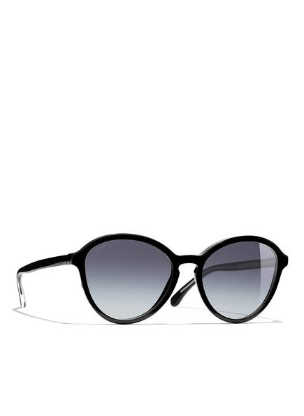 CHANEL Sunglasses Runde Sonnenbrille, Farbe: SCHWARZ & GRAU VERLAUF (Bild 1)