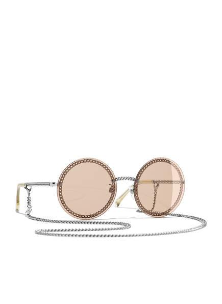 CHANEL Runde Sonnenbrille, Farbe: C12473 - SILBER/ ROSE (Bild 1)