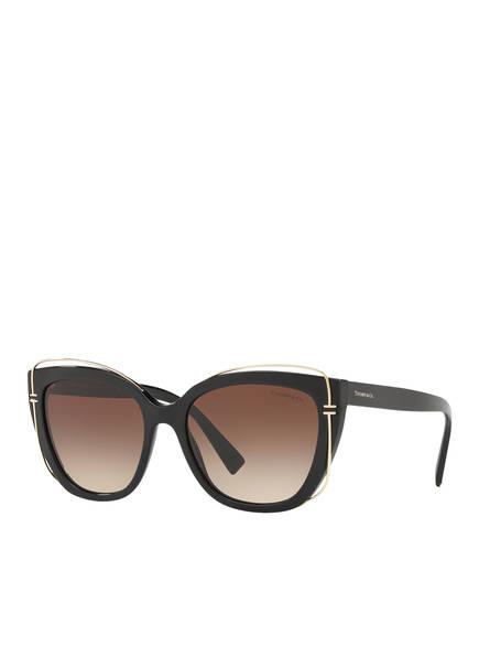 TIFFANY & Co. Sunglasses Sonnenbrille TF4148, Farbe: 80013B - SCHWARZ/ BRAUN VERLAUF (Bild 1)