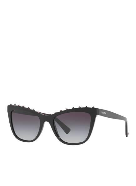 VALENTINO Sonnenbrille VA4022, Farbe: 50018G - SCHWARZ/ GRAU VERLAUF (Bild 1)