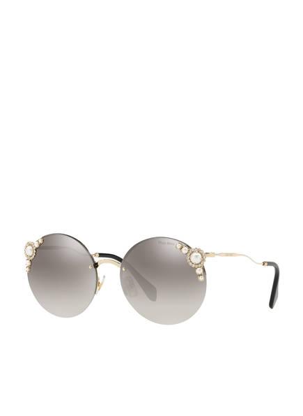 MIU MIU Sonnenbrille MU 52TS, Farbe: VW75O0 - DUNKELGRAU/ GRAU VERLAUF VERSPIEGELT (Bild 1)
