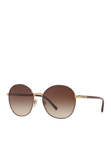 BURBERRY Sonnenbrille BE3094, Farbe: 125613 - LIGHT GOLD/ BRAUN (Bild 1)