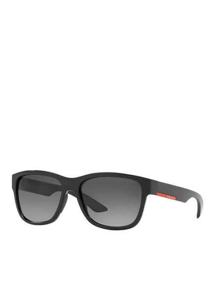 PRADA LINEA ROSSA Sonnenbrille PS 03QS, Farbe: 1AB5W1 - SCHWARZ/ SCHWARZ VERLAUF (Bild 1)