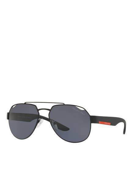 PRADA LINEA ROSSA Sonnenbrille PS 57US, Farbe: DG05Z1 - SCHWARZ/ DUNKELGRAU POLARISIERT (Bild 1)