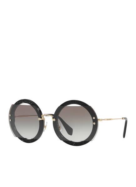 MIU MIU Sonnenbrille MU 06SS, Farbe: 1AB0A7 BLACK (Bild 1)
