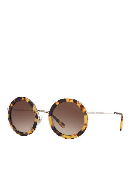 MIU MIU Sonnenbrille MU 59US, Farbe: 7S0/ 6S1 - HAVANA/ BRAUN VERLAUF (Bild 1)