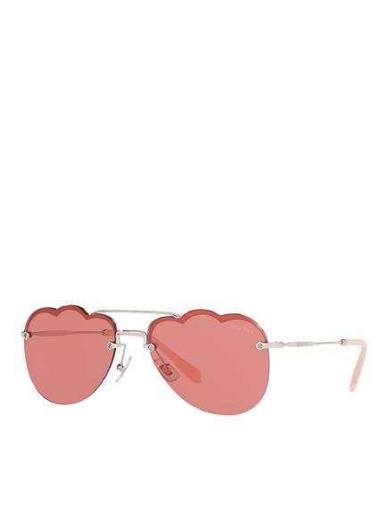 MIU MIU Sonnenbrille MU 56US, Farbe: 1BC177 - SILBER/ PINK (Bild 1)