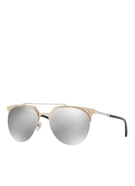VERSACE Sonnenbrille VE2181, Farbe: GOLD/ GRAU VERSPIEGELT (Bild 1)