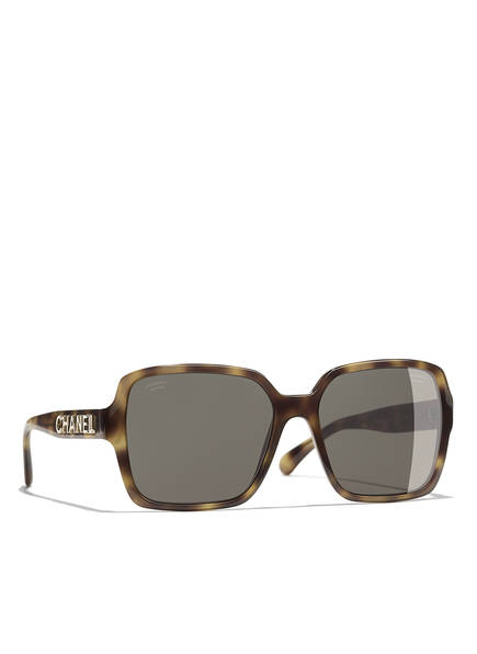 CHANEL Sunglasses Rechteckige Sonnenbrille, Farbe: HAVANA & BRAUN POLARISIERT (Bild 1)