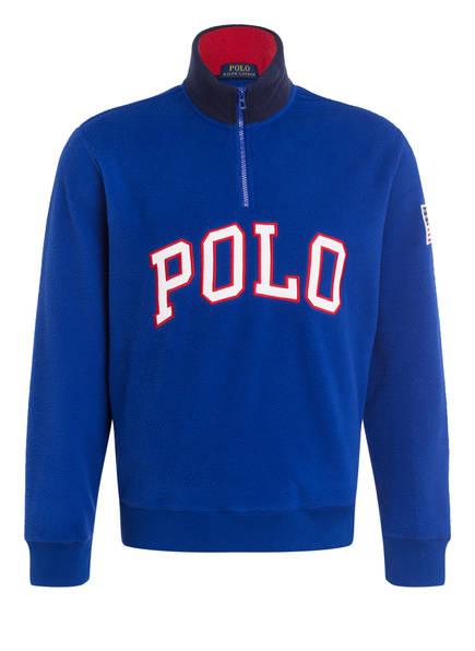 POLO RALPH LAUREN Fleece-Troyer, Farbe: BLAU (Bild 1)