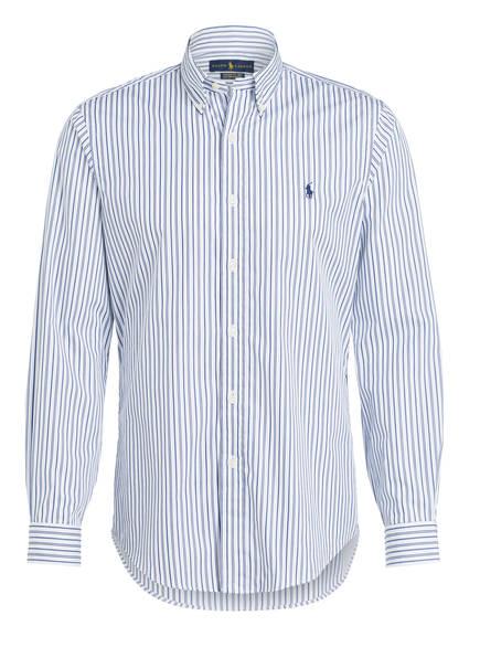 POLO RALPH LAUREN Hemd Custom Fit, Farbe: WEISS/ BLAU GESTREIFT (Bild 1)