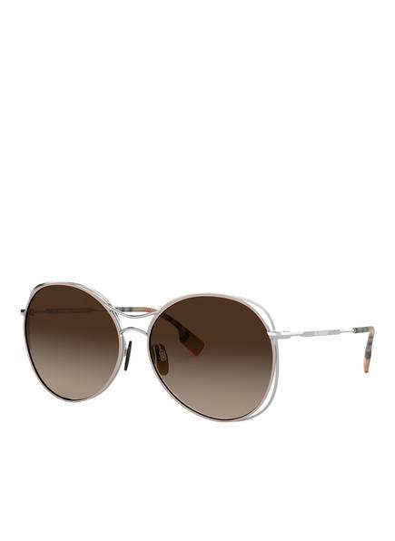 BURBERRY Sonnenbrille BE3105 , Farbe: 100513 - SILBER/ BRAUN VERLAUF (Bild 1)