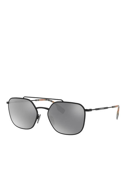 BURBERRY Sonnenbrille BE3107, Farbe: 10076G - SCHWARZ/ SCHWARZ VERSPIEGELT (Bild 1)
