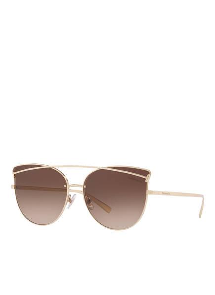 TIFFANY & Co. Sunglasses Sonnenbrille TF3064, Farbe: 60213B - GOLD/ BRAUN VERLAUF  (Bild 1)