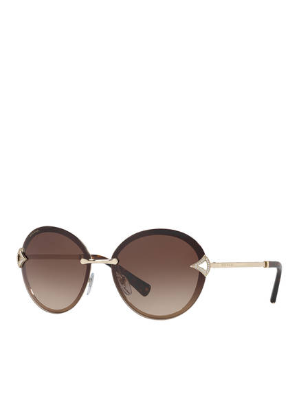 BVLGARI Sunglasses Sonnenbrille BV6101B, Farbe: 278/13 - DUNKELBRAUN/ BRAUN VERLAUF (Bild 1)
